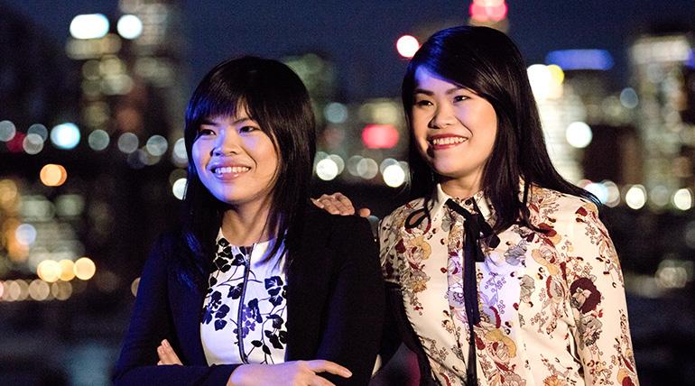 在澳大利亚从事科学事业的越南姐妹